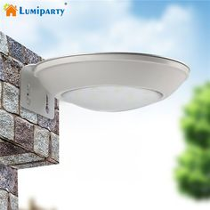 Lumiparty Solar Powered Motion Sensor Lights 16 LED Solar Power Security Light Bright Wall Lamp for Outdoor Garden Lighting #Affiliate