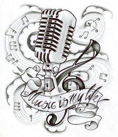 Musica E A Minha Vida Desenhos De Tatuagem De Musica Tatuagens