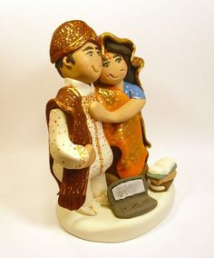 #IndianWedding Cake Topper by gingerbabies on Etsy, $90.00