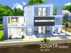 SONATA Modern house by Joy at TSR via Sims 4 Updates [L]