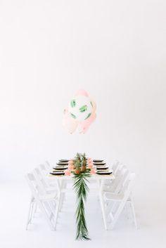 The Modern Luau Palm Fronds & Bon Bons Tropical Dinner Party