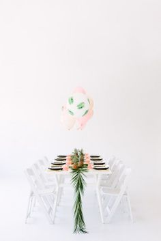 The Modern Luau Palm Fronds & Bon Bons Tropical Dinner Party