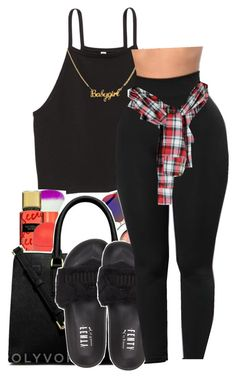 """""""He saw me on ig thought I was a model"""" by maiyaxbabyyy ❤ liked on Polyvore featuring Puma"""