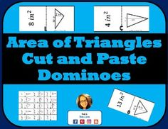 This cut and paste puzzle includes matching triangles with the area of the triangle. Aligned to 6th grade common core math standard 6.G.1. Use in centers, as individual or group practice or even in interactive notebooks to practice finding the area of a triangle.