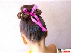 Peinado fácil para niña / Easy hairstyle for girl ❤ Chongo - YouTube
