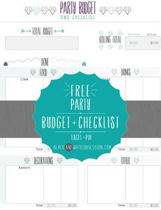 Free Gorgeous Excel Budget and Checklist | How to Throw a Last Minute Party, Part 3 (Freebie) | www.blackandwhiteobsession.com
