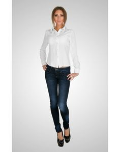 Shirt With Embellished Collar and Shoulders