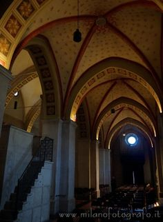 Trezzo d'Adda (Milan): Detail of the interior of the Church of the saints Gervaso and Protaso