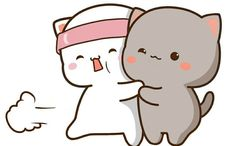 Cute Love Pictures, Couple Illustration, Gifs, Mochi, Cute Stickers, Cute Cats, Hello Kitty, Cute Animals, Bunny