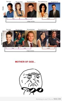 Friends vs. How I Met Your Mother... Love it cause I've thought of a lot of similarities myself! So true!