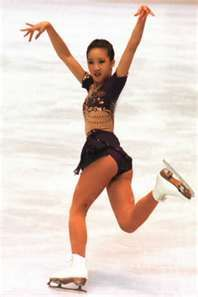 A young Michelle Kwan. If memory serves, this was her first BIG winning year where she first won the world championships!