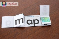 FREE CVC -ap Word Family Flip Flap book.