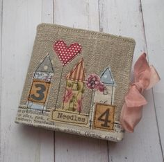 Sewing Needle Case Gift Boxed Linen by pantsandpaper on Etsy