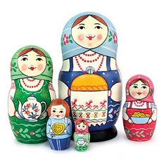 "Traditional Matryoshka ""Welcome Party""    - An exclusive nesting doll, handcrafted by the artist to win the heart of anyone, who sees it!"