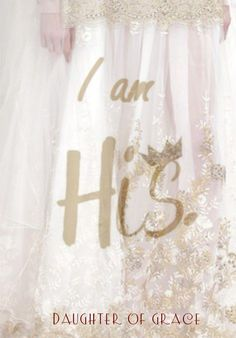 I am HIS, Daughter of Grace. Bride of Christ Prophetic Art. Please also visit www.JustForYouPropheticArt.com for more colorful prophetic art you might like to pin or purchase. Thanks for looking! #propheticart