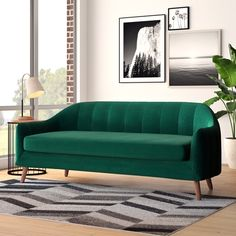 18 Awesome Homemade Sofa Ideas You Can Try Modern Sofa, Living Room Modern, All Modern, Living Room Decor, Modern Contemporary, Living Spaces, Sofa Outlet, Cool Couches, Green Couches