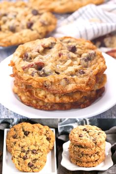 Loaded cowboy cookies recipe chewy buttery cookies with oats chocolate chips pecans and coconut dessert cookies cowboycookies rangercookies chocolatechipcookies snacks thatskinnychickcanbake lemon coconut neiman marcus recipe Butter Chocolate Chip Cookies, Chocolate Cookie Recipes, Chocolate Chip Oatmeal, Easy Cookie Recipes, Homemade Desserts, Coconut Desserts, Crunchy Cookie Recipe, Cookie Recipe With Pudding, Toll House Chocolate Chip Recipe