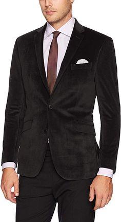 Kenneth Cole REACTION Men's Velvet Slim Fit Evening Blazer at Amazon Men's Clothing store