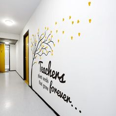 Beautiful vinyl wall art for teachers and schools... save 25% with promo code WELOVETEACHERS at www.TheSimpleStencil.com/schools/