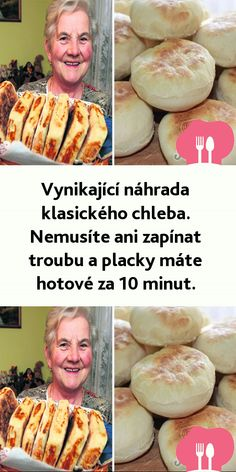 Vynikající náhrada klasického chleba. Nemusíte ani zapínat troubu a placky máte hotové za 10 minut. Hamburger, Tacos, Food And Drink, Baking, Ethnic Recipes, Hampers, Food, Rezepte, Bread