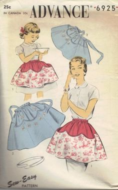 Advance 6925_50s mother daughter apron pattern