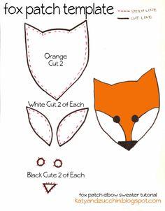 Make a fox face cut out