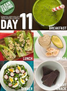 Clean Eating Challenge #ejemplo #comida #menú #adelgazar #perder #peso #nutricion #saludable #salud #nutritivo