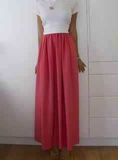 falda larga hecha a mano