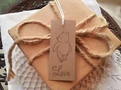 Winnie the Pooh Gift Tags Set of 10 by LazyDayCottage on Etsy, $3.50