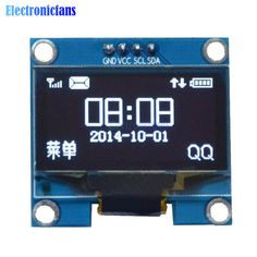"1.3 Inch 1.3"" White OLED LCD 4PIN Display Module IIC I2C Interface 128x64 for Arduino"