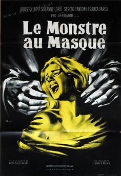 Atom Age Vampire (A.Majano, French grande design by Jean Mascii Sci Fi Horror, Horror Films, Horror Movie Posters, Film Posters, Anton, Teenage Werewolf, Great Movies, Vintage Posters, Photos