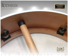 NobleWares Image of 16 inch x 4 inch Pro Tunable Bodhran with Straight Bar 16BBPTS by Bridget Drum Company of Canada