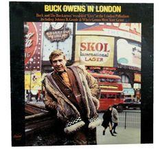 "Buck Owens - ""In London"", vintage vinyl record LP, vg+/vg+ Best Country Music, Country Music Singers, Johnny B Goode, Buck Owens, Swinging London, Capitol Records, Song List, Vintage Vinyl Records, Vintage London"