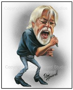 Bob Seger Limited Edition Celebrity Caricature by Don Howard