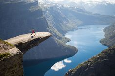 Yoga at Trolltunga, Norway, Fjords view Pic by @patrickgensel
