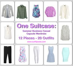 Outfit Posts: one suitcase: summer business casual capsule wardrobe - 12 clothing pieces
