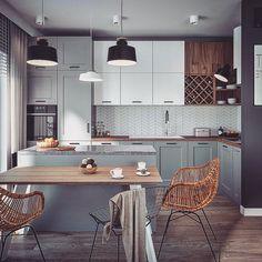 A cozy kitchen is what matters. Kitchen Room Design, Kitchen Corner, Kitchen Cabinet Design, Home Decor Kitchen, Kitchen Living, Interior Design Kitchen, Kitchen Furniture, New Kitchen, Room Interior