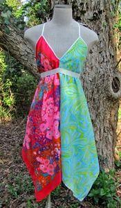 Jamie makes the best Revamp scarf dresses! (made from repurposed vintage scarves)