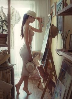David Dubnitskiy - Time to try on hats. Summer is coming soon !