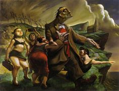 Sisters Of Mercy by Peter Howson_classical painting oil painting Shijieminghua Peter Howson, Social Realism, Sisters Of Mercy, Mood Colors, Colours, Copper Art, Gcse Art, Fantastic Art, Art And Architecture
