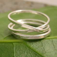 Infinity Plus One Fine Silver Infinity Ring Plus by seababejewelry