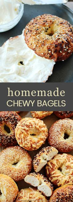 Easy Homemade Bagels - Butter and Bliss - Bread recipes - Homemade Bagels Recipe! Easy bagels that are chewy on the outside, soft on the inside bagel, and fu - Bread Recipes, Baking Recipes, Homemade Bagels, Homemade Recipe, Butter, The Best, Breakfast Recipes, Dinner Recipes, Food And Drink