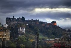 Edinburgh & at the top is the Edinburgh...this is the castle that inspired Hogwarts for the Harry Potter books