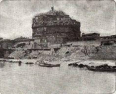 1900 Castel Sant'Angelo e il Tevere durante la costruzione dei Muraglioni