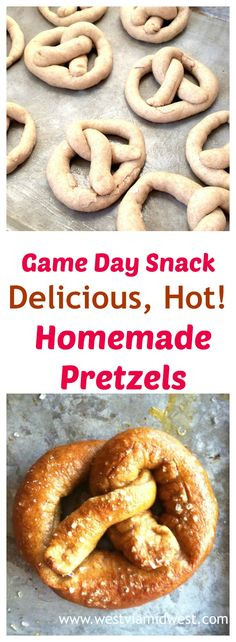 Served Fresh and warm from the oven with a soft flavorful inside and a slightly crisp bite these authentic Bavarian Homemade German Pretzels are perfect for when you want something a little more than just chips and dip! via Michele West Via Midwest Best Appetizers, Appetizer Recipes, Snack Recipes, Dessert Recipes, Bread Recipes, Tailgating Recipes, Tailgate Food, Desserts, Easy Recipes