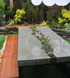 basteln mit beton-gartenmöbel aus beton