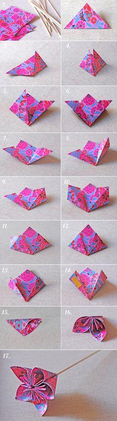 DIY. Flores de papel-centro de mesa/Paper fowers-centerpieces