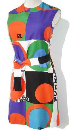 e63b556f44 Vintage Rudi Gernreich Mod Dress Multicolor by metroretrovintage Costume  Collection