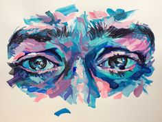 Sketch portrait with text highlighter markers and fineliner Arte Gcse, Gcse Art Sketchbook, Oil Pastel Art, Oil Pastel Paintings, Posca Art, Guache, Art Hoe, Sketch Art, Aesthetic Art