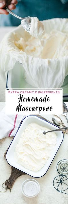 Fresh, homemade mascarpone, made in 10 minutes with only 2 ingredients. Extra creamy, delicious and can be stored for up to a week in a fridge.